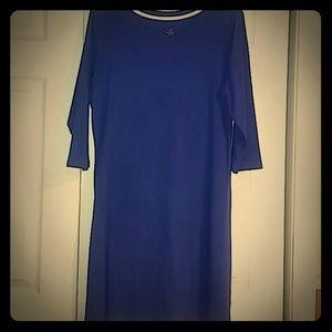 Isaacmizrah Live 3/4 sleeve cotton dress Large EUC